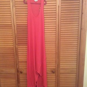 Guess 1981 Red Collection Maxi Tank Cotton Dress